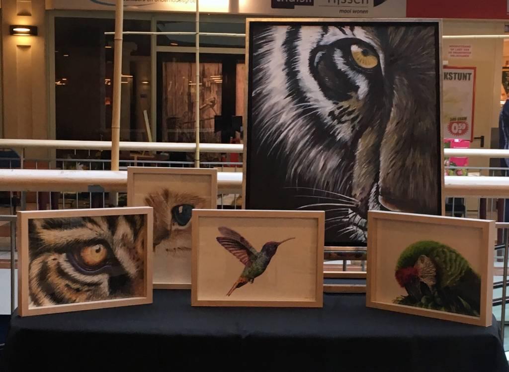 Werken van Mirca Pongers bij tentoonstelling