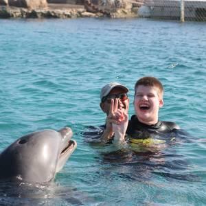 Isabel Kruimelaar heeft genoten van haar dolfijntherapie in Curaçao