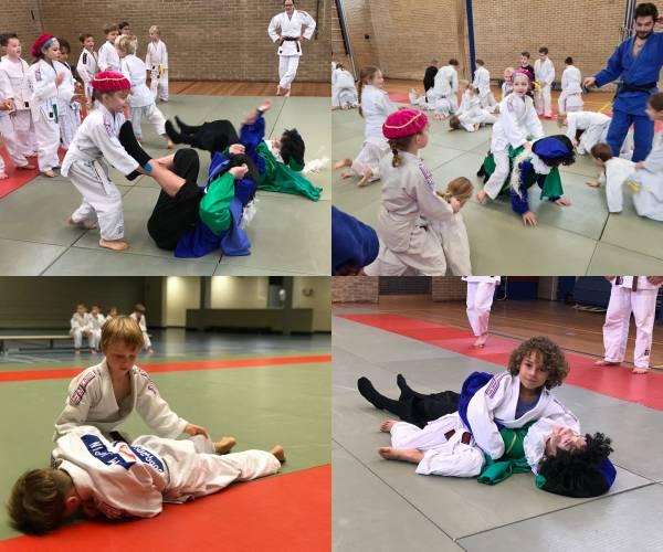 Judo Promotion Twente krijgt bezoek van Pieten zonder naam