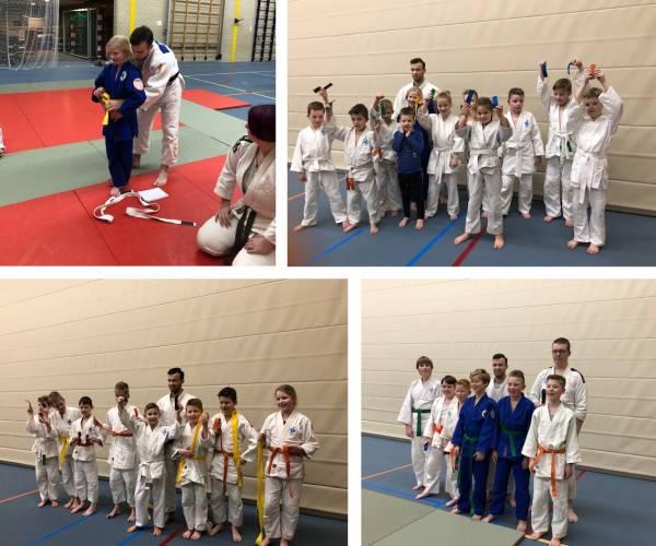 Wierdense judoka's leggen met veel succes examen af