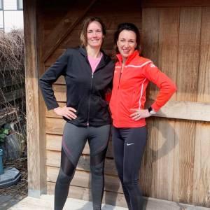 Cobi en Judith lopen halve marathon voor goede doel