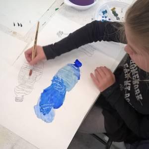 Kaliber Kunstenschool start met 'kidsklas Tekenen & Schilderen'