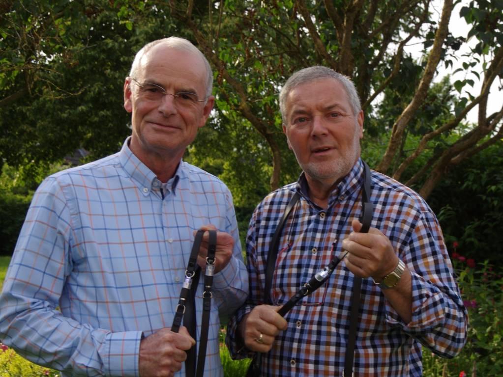 Frans van den Bogaerd (links) en Roel Smelt, initiatiefnemers van de Trainreinteugel. Foto: Roel Smelt