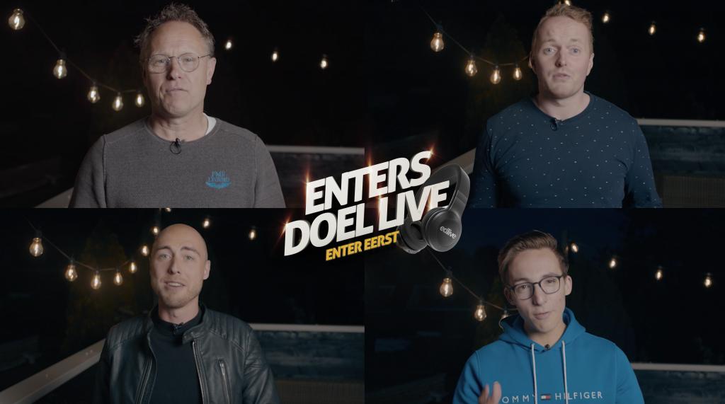 De vier presentatoren van EDlive.