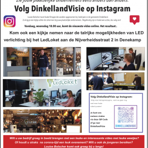 Zie jouw plaatselijke ondernemers eens anders dan anders:<br />Volg DinkellandVisie op Instagram