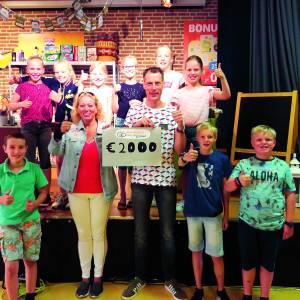 Sponsorloop basisschool Willibrordus voor 'Stichting Downsyndroom'