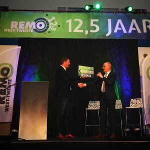 Feestelijke bijeenkomt jubilerend REMO West-Twente