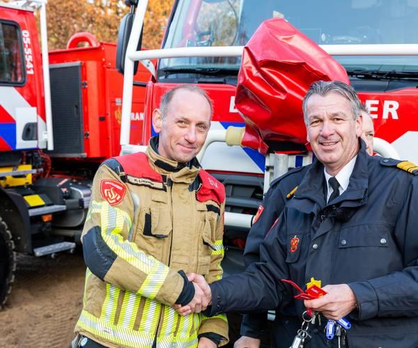 Brandweer Twente presenteert nieuwe natuurbrandbestrijdingsvoertuigen