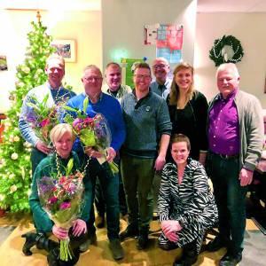 Afscheid bestuursleden en benoeming nieuwe leden tijdens kerstmiddag in de Mare