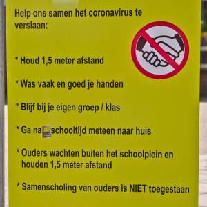 Les op basisscholen weer mogelijk, maar met anderhalve meter afstand en handen wassen