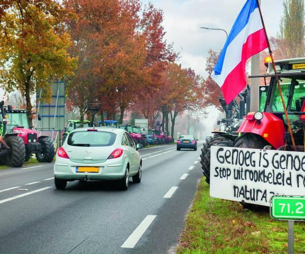 Publieksvriendelijk boerenprotest grensovergang Rammelbeek