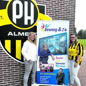Senioren aan het gamenastieken bij PH Almelo