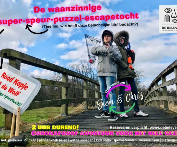 De Beleverij presenteert i.s.m. Siem & Chris: Dé Waanzinnige Super-Speur-Puzzel-Escapetocht