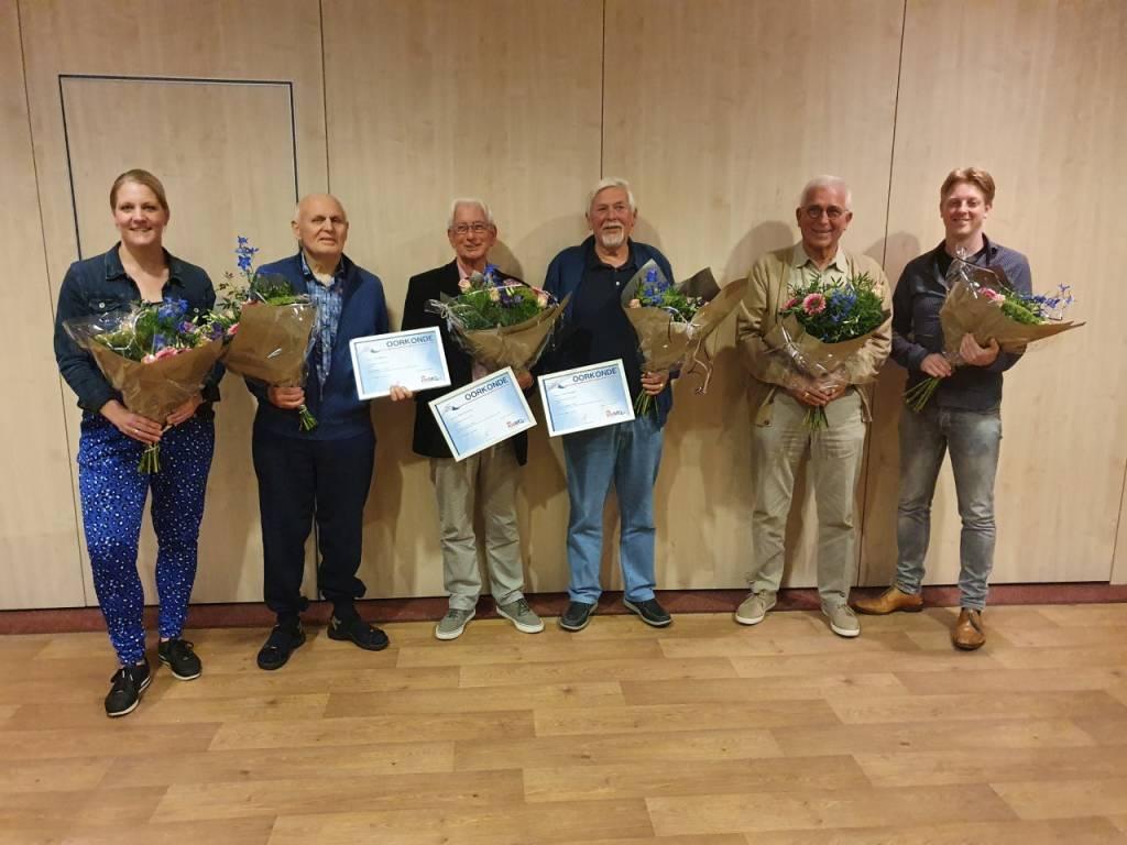 V.l.n.r.: Kimmy Reef, Jan Bakhuis, Henk Huisman, Geert Prenger, Jan Leemhuis, Stefan Blaak.