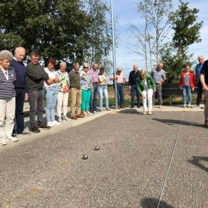 Jeu-de-boulesbaan sportpark 't Reuvekamp officieel in gebruik genomen