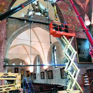 Glaswand in St. Nicolaaskerk